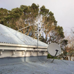 Existing satellite dish and new UHF aerial
